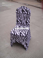 Wholesale zebra print spandex banquet chair cover with an arch on feet
