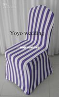 Wholesale purple stripe print spandex chair cover