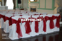 Wholesale White standard sqaure top banquet poly chair cover