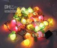 Wholesale New Christmas tree ornaments LED lights bulbs Christmas bell decorations