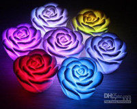 Wholesale Mini Rose Shape Romantic Color changing LED Lamp Flickering Bulb LED light gift for Christmas Gift amp