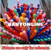 Wholesale Latex Mixed Color Spiral Wave Long Balloon For Wedding Holiday Party Halloween