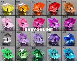 Wholesale pack Acrylic Crystal Rock Ice Confetti Table Scatter Vase Filler MM Twelve Point Star mix order