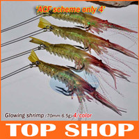 Wholesale Bionic Shrimp With Line And Hook Bamboo Shrimps Luminous HW0047