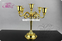 Wholesale Home deco wedding Candle Holder silver gold black Freeshipping