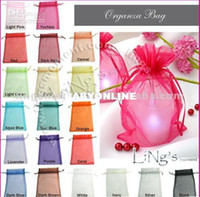 Wholesale Sheer Organza Wedding Favor Gift Candy Bag Pouch SIZE colors available