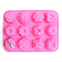 Wholesale Nicole Silicone Baking Cake Mold DIY Silicone Bread Mold Ice Tray Heart Star Rose Flowers B0001
