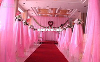 Wholesale roll cm Width Meters Long curtain Organza voile sheer fabric for wedding backdrop background decorations color u