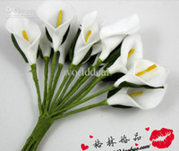 Wholesale Handmade White Mini Calla Lily Flower Wedding Favor Box Decor Scrapbooking DIY Craft Supplies