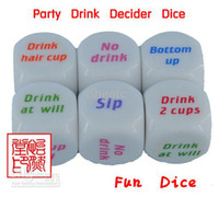 Wholesale Party Drink Decider Dice Games Pub Bar Fun Die Toy Gift KTV Bar Game Drinking Dice