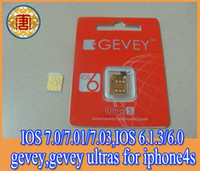 Wholesale Newest F918 Chip GEVEY S Unlock sim Card for ios7 ios ios ios to ios free shhipping