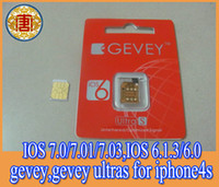 Wholesale F918 Chip GEVEY S Unlock card for iphone4s IOS ios ios ios to ios for iphone4s