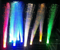 Wholesale G4 LED Optical Fiber Light DC V Purple Pink Warm Green Red Blue Colors LED Bulb lamp Energy Saving light Christmas Gifts