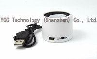 Wholesale White Color Surround Sound Portable HIFI Mini Speaker MP3 Player Amplifier can use for ipad iphone pc