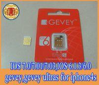 Wholesale Newest F918 Chip GEVEY S Unlock sim Card for ios7 ios ios ios to ios free shhipping