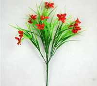 Wholesale NEW cm quot Length Artificial Simulation Silk Flowers Simulation Oat Grass Bonsai Flowers Seven Stems Per Bush