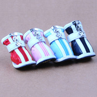 Wholesale Pet Shoes Anti skidding Boots with Cute Designed Zipper CA904