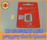 For Apple iPhone gevey 5.1 - IOS7 ios ios ios to ios for iphone4s newest F918 Chip GEVEY ultra S Unlock card