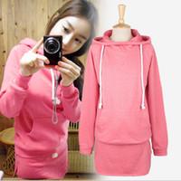 Wholesale Korean girls ladies fashion pink sportswear set long hoodies mini package buttocks short skirt fleeces t5734