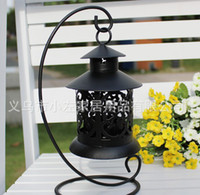 Wholesale Hot New Retro England lace metal hanging candle holder Christmas gifts qjq87