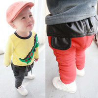 Wholesale Baby Clothes Fashion Casual Trousers Leather Pants Child Clothing Long Trousers Winter Pants Kids Trouser Children Casual Pants Boys Trouser