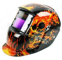 Wholesale Auto Darkening Mig Tig Solar Welding Grinding Helmet Flame Skull Welder Mask