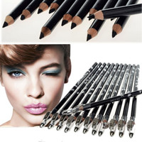 Wholesale 2set Pure Black Cosmetics Makeup Pen Waterproof Eyebrow Eye Liner Lip Eyeliner Pencil JC01021