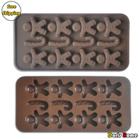 Modelling Tools Silicone FDA Free Shipping silicone doll fondant chocolate soap mold ice cube tray