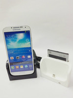 Wholesale Dock Station Stand Cradle Charger USB Cable for Samsung Galaxy S4 i9500 Black White Color