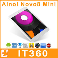 Wholesale 7 inch Ainol Novo8 Mini ATM7021 Dual Core GHz Android x768 pixels GB Rom HDMI Dual Camera