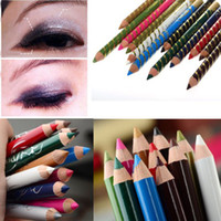 Wholesale NEW Color Glitter Eye Shadow Eyeliner Lip line Pencil Cosmetic Makeup Set JC01011 JC01012 JC01014