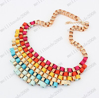 Wholesale exaggerated chunky bib necklace for women jewellery fashion statement necklace collar choker jewelry MYY6918