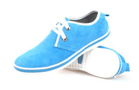 Wholesale 2013 New Men Skate Board Shoes Sky Blue Canvas Shoes Casual Shoes Point Shoes With Rubber Outsole Seven Colors