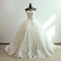 Cheap 2013 New Luxury Strapless Rhinestone thin car bone flower big tail A Line wedding bridal gowns dresses