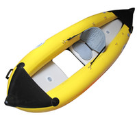 Wholesale 1 Person Inflatable Canoeing Drift Canoe Kayaks Fish Boat Kayaker Boat Air Pump Oar Seat Top Quality