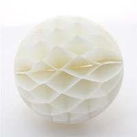 Wholesale 60pcs quot Lovely White Honeycomb Ball Best to Assemble Wedding Room Chair or Garden with Colour and Decoration
