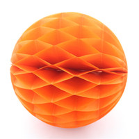 Wholesale 60pcs quot Lovely Orange Tissue Paper Honeycomb Pom Pom Best for Wedding Room Chair or Garden with Colour and Decoration