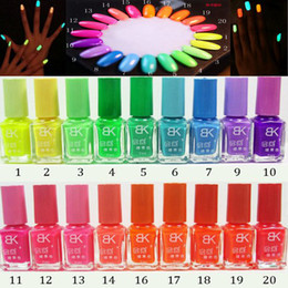 Wholesale New Colors ml Fluorescent Neon Nail Art Polish Glow in Dark Nail Varnish Nail Polish JC02002