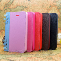 Wholesale Best selling New Arrival Flip Cover Case for iPhone S Notebook Note Book Style Case Mix Color Free DHL EMS Shipping DH