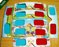 Wholesale 3D glasses eye wear home red blue fashion cool stained mirror glass White Paper movies games Video eyewear android tv box