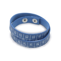 Wholesale Cheap Imitation Stainless Steel Slap Wrap Leather Ruler Bracelet