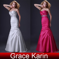Beads Sleeveless Sweetheart GK New Arrival A-Line Sweetheart Ruched Beaded Bridesmaid Dresses Cheap In Stock CL2289