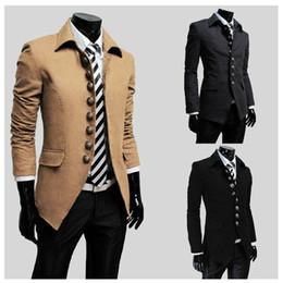 Wholesale Hot Men trench coats Stand up collar Slim Coat