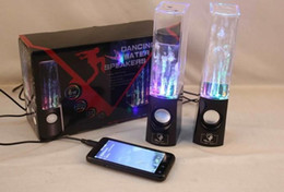 Wholesale Dancing Water Speaker Music Audio MM Player for Iphone plus USB LED Light USB mini Colorful Water drop Show for Laptop PSP