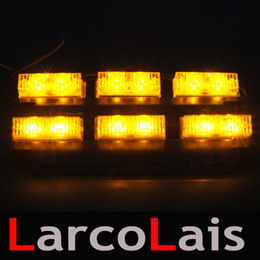 30pcs 6x22 LED Grille Strobe Flash Warning EMS Car Truck Light Flashing Lights 6 x 22LED