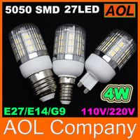 Wholesale Cheap LED Corn Bulb SMD LED Light W Cover E27 G9 E14 GU10 degree High Power Home Lamp V V on sales