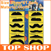 Wholesale Mustache Party Moustache Handlebar Self Adhesive Make Up for Xmas Christmas Birthday Game HALLOWEEN masquerade Party JJ0048
