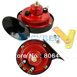 Wholesale 2 x Waterproof Snail shaped Car Auto Van Motor Truck V Electric Vehicle Horn TK0668