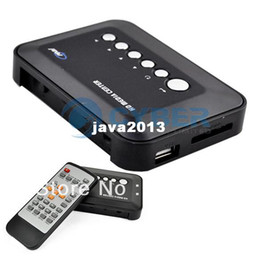 Wholesale TV HD Media Player P Multi Media Video Player SD USB MKV RM RMVB AVI MPEG4 Center Remote