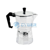 Wholesale New Stove Top CUPS ML Continental Aluminum Coffee Maker Coffee Pot Machine Percolator TK0863